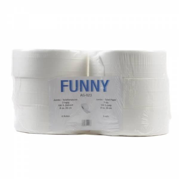 6 Rollen Jumbo Toilettenpapier 320m 2-lagig 28cm hochweiß