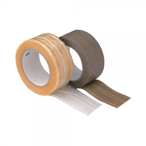 PVC-Packband fadenverst. F234, 66m x 50mm, braun VPE 6