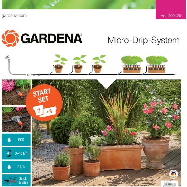 Gardena MDS Start-Set Pflanztöpfe M Micro-Drip-System Blumentöpfe 13001