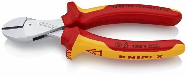 KNIPEX 73 06 160 X-Cut® Kompakt-Seitenschneider hochübersetzt 160 mm verchromt isoliert mit Mehrkom