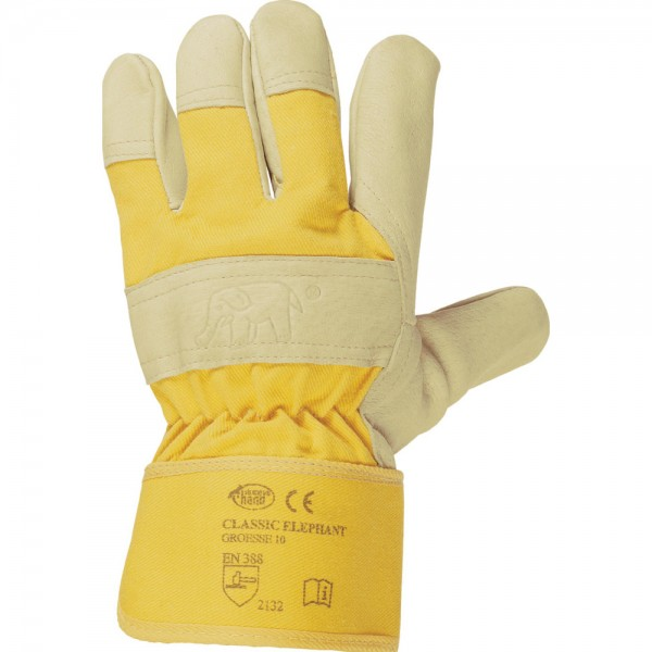 HandschuheElephant,Schweinsleder, gelb VPE 12