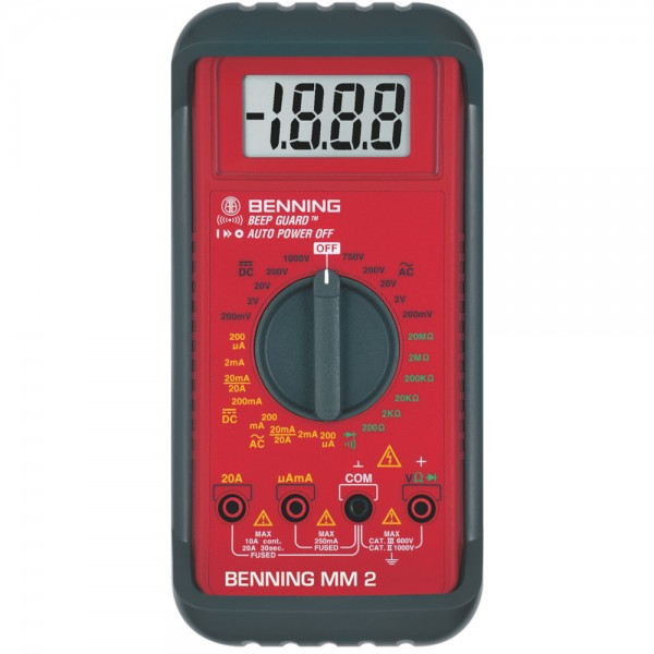 Digital-Multimeter MM 2 Benning