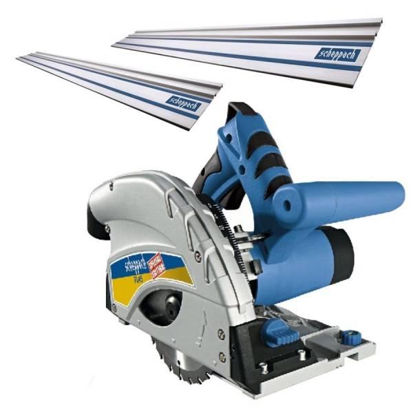 Scheppach Tauchsäge PL45 mit 2 x 700 mm Führungsschienen und Schienenverbinder