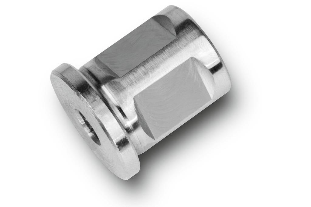 Ø 7 mm Adapter mit 3//4 in Weldon-Aufnahme Vierkant 5,5 mm