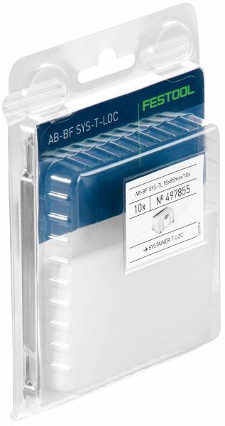 10 Festool Abdeckungen für Beschriftungsfeld AB-BF SYS TL 55x85mm 497855