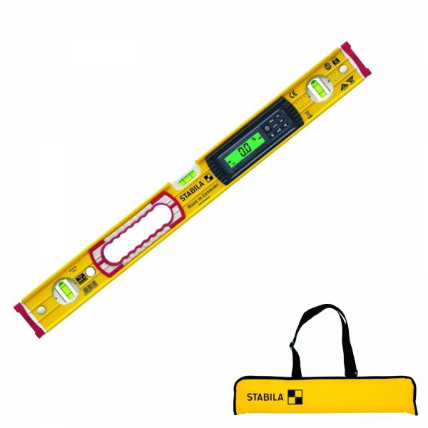 STABILA 122cm Elektronik-Wasserwaage Type 196-2 electronic IP 65 in Tasche