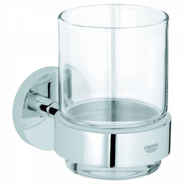 GROHE Glas mit Halter Essentials 40447 chrom