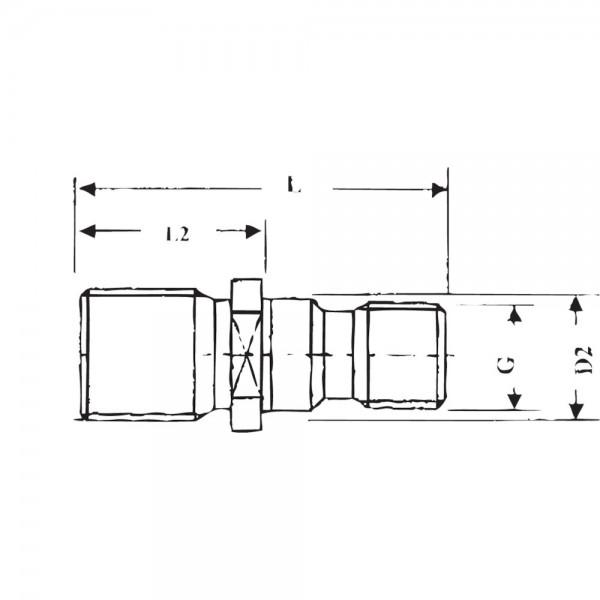 Anzugsbolzen Deckel SK40-M16 S20x2 GSW