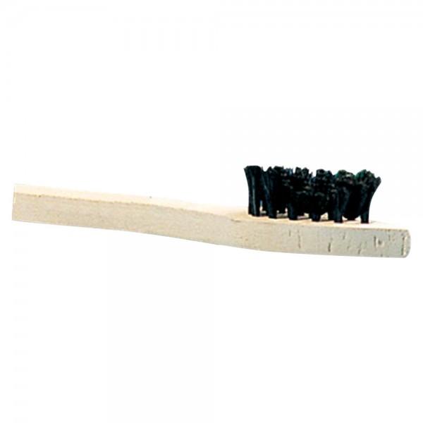 Auftragebürste, dunkle Borsten, Holz
