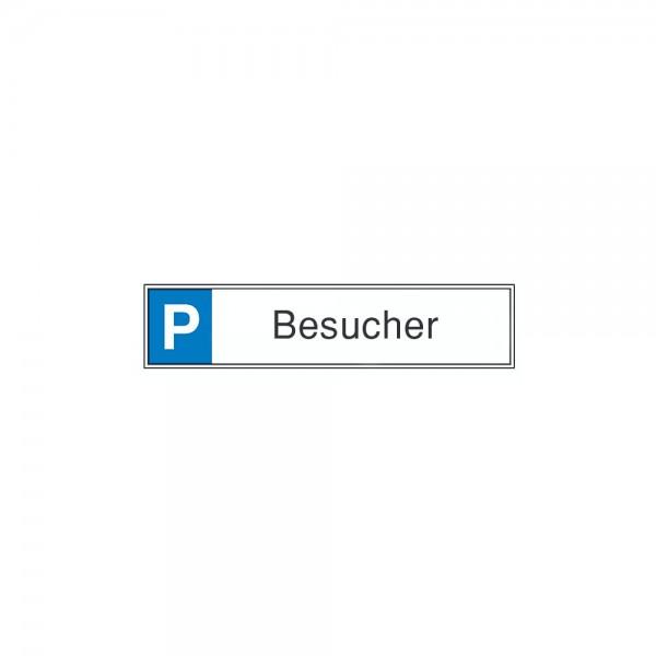 Parkplatzschild 520 x110 mm Alu, Besuch.