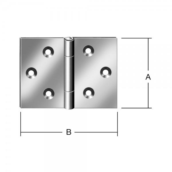 Scharniere breit 40x60mm Nr. 504040Z