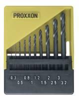 PROXXON HSS Spiralbohrersatz, DIN 338, 10-tlg. (0,3 bis 3,2 mm) 28874