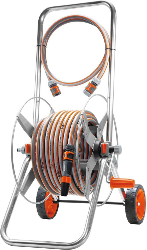 gardena metall schlauchwagen set 02671 original trommel. Black Bedroom Furniture Sets. Home Design Ideas