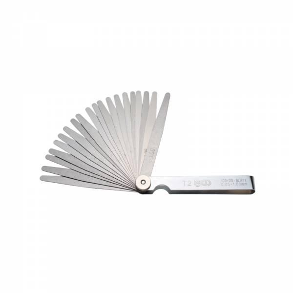 BGS Präzisions-Fühlerlehren 20 Blatt Genauigkeit T2 0,05-1,0mm, 0,05mm 3083