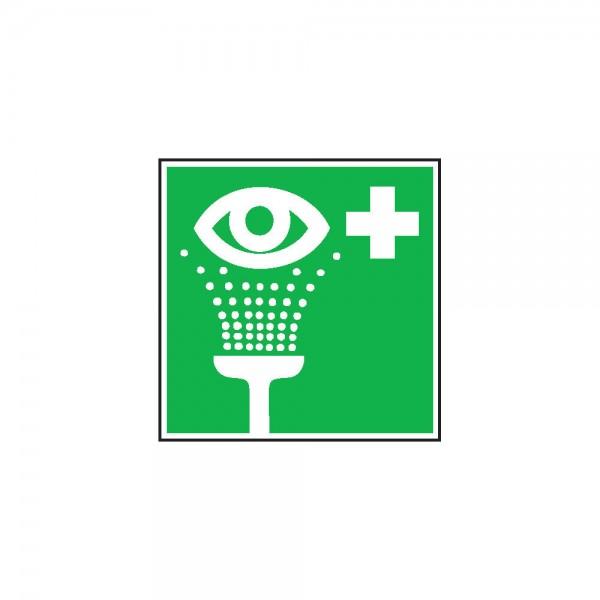 Rettungsschild Fol Augenspül 150x150mm