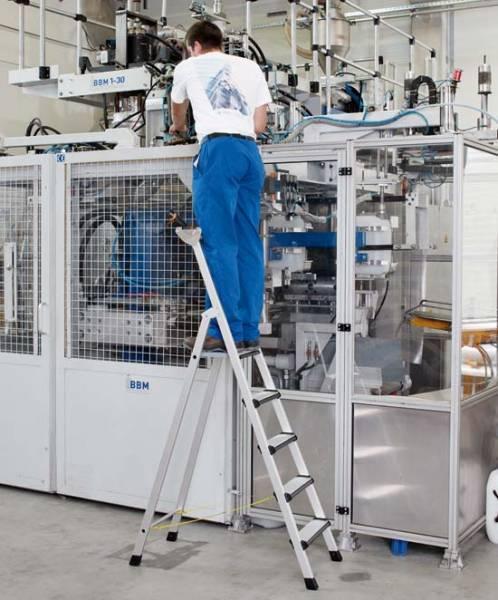 Zarges Comfortstep S - LM-Stufen-Stehleiter 5 Stufen 41423