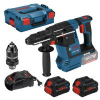 Bosch Akku-Bohrhammer SDS plus GBH 18V-26 F mit 2 x ProCOREAkku 18V 8.0 Ah + L-Boxx 061191000E