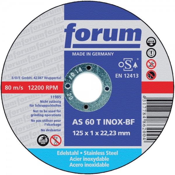 Trennscheibe f. Edelst. 125x1,0mm ger. FORUM