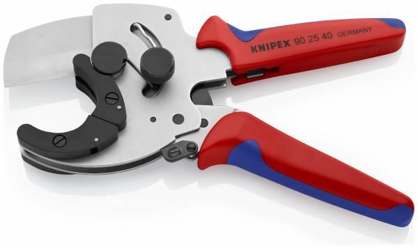 KNIPEX 90 25 40 Rohrschneider für Verbund- und Kunststoffrohre 210 mm verzinkt mit Mehrkomponenten-H