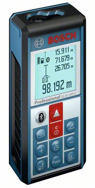 BOSCH LASER rangefinder GLM  100 C incl. protective case  0601072700