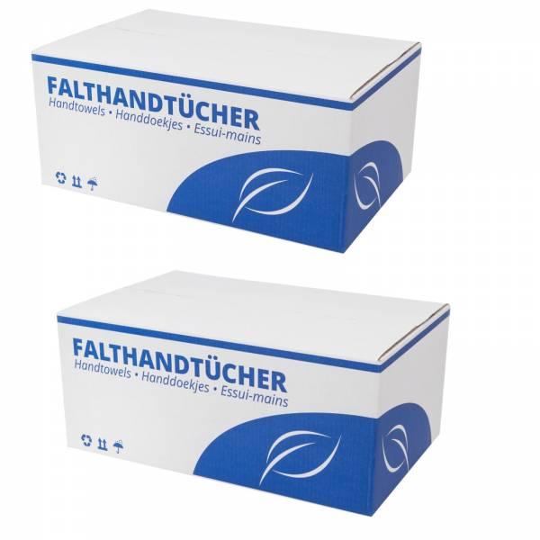 6400 Handtuchpapier hochweiss 2 lagig 25x23cm Z/V-Falz Zellstoff (2x3200)