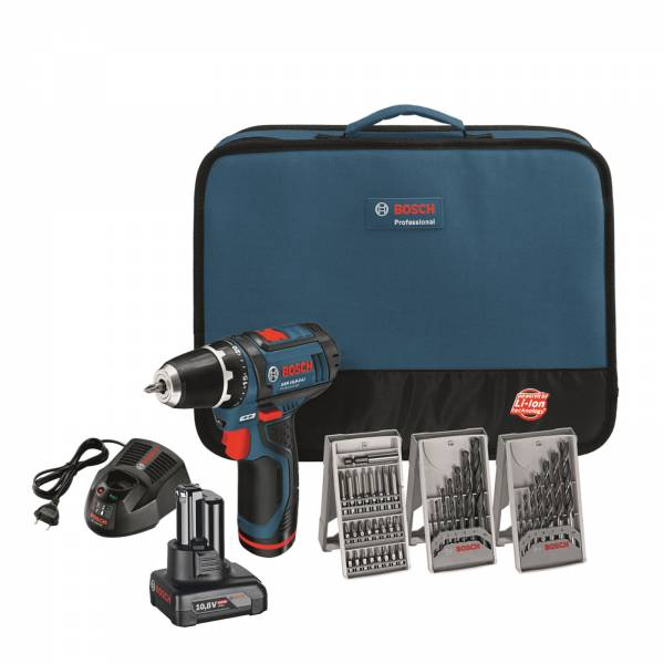 bosch cordless drill gsr 12v 15 gsr 10 8 2 li in bag. Black Bedroom Furniture Sets. Home Design Ideas