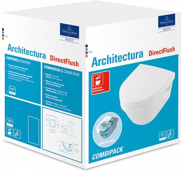 VB Combi-Pack Architectura 4687 350x480mm DirectFlush wandh Weiß Alpin