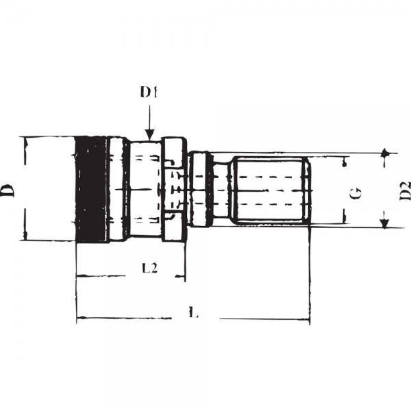 Anzugsbolzen Ott SK40-M16 m.Bohrg. GSW