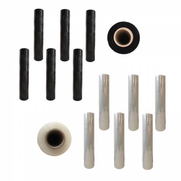 6 Rollen PE-Stretchfolie Palettenfolie Strechfolie Verpackungsfolie 17my 20my 23my 500mm x 300m