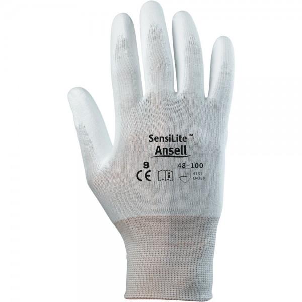 Handschuh SensiLite 48-100, weiß/schwarz