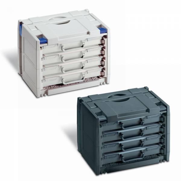 Tanos Rack Systainer 4 inkl. 4x Rack-Box SYS Classic Komp. zu Festool Sortainer