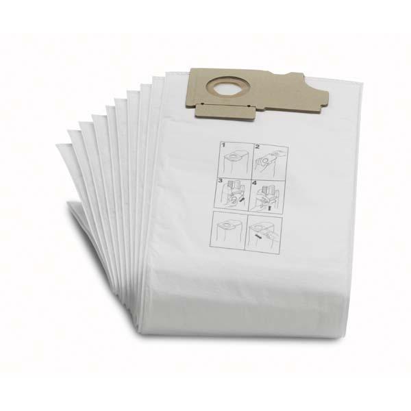 10x Kärcher Vliesfiltertüten 3-lagig Staubsaugertüten 69043110