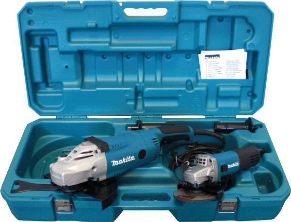makita angle grinder set 230 mm 125 mm ga9020r 9558nbr ebay. Black Bedroom Furniture Sets. Home Design Ideas