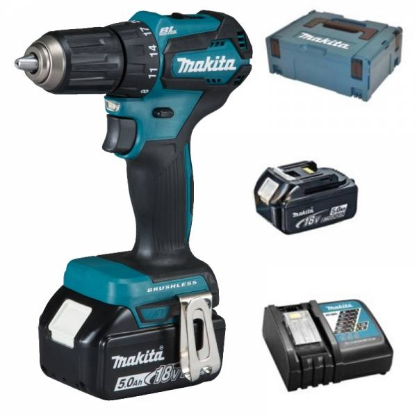 makita perceuse batterie 18v ddf483rtj piles 5 0 ah. Black Bedroom Furniture Sets. Home Design Ideas