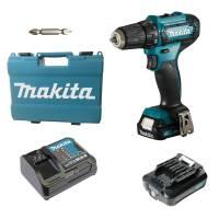 Makita Akku-Bohrschauber DF333DSAE 12V max inkl. 2 x 2,0 Ah Akku, Ladegerät und Koffer