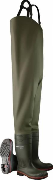 Dunlop Wathose Acifort HeavyDuty S5 SRA grün