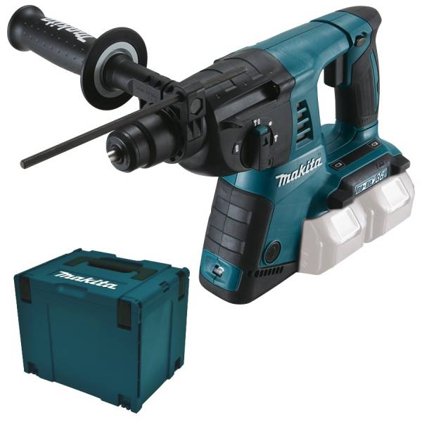 makita akku bohrhammer dhr263zj 2x18v 36v kombihammer makpac ebay. Black Bedroom Furniture Sets. Home Design Ideas
