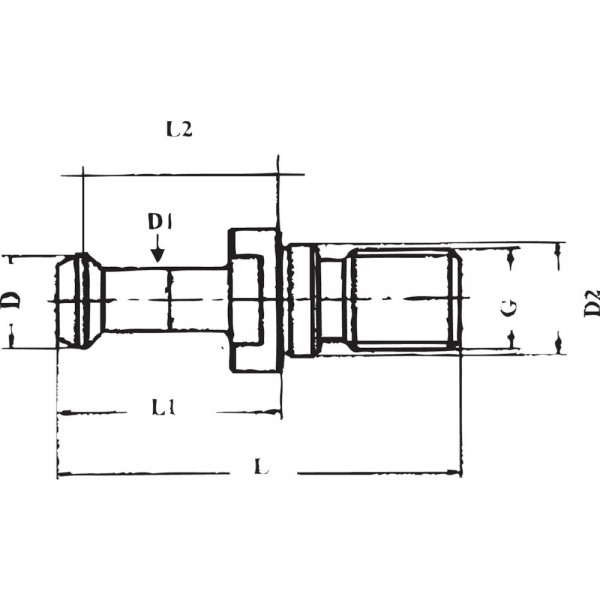 Anzugsbolzen JISB6339 BT40 60G. GSW