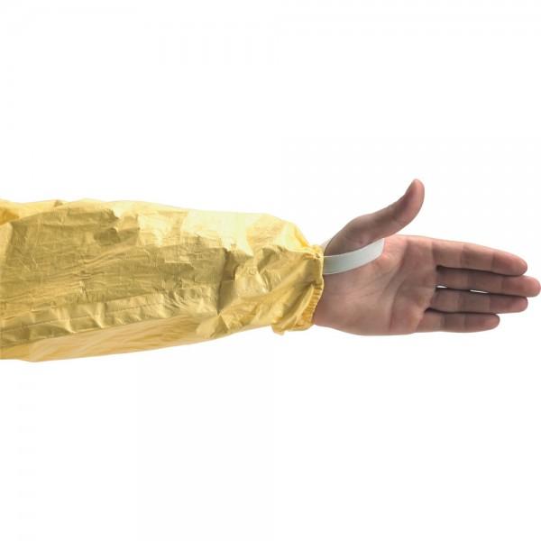 Einweganzug Tychem C, gelb, Material Tyvek, Klassischer Typ-5/Typ-6-Overall
