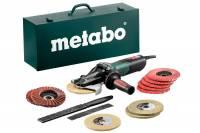 Metabo Flachkopf-Winkelschleifer WEVF 10-125 Quick Inox Set 613080500  Stahlblech-Tragkasten