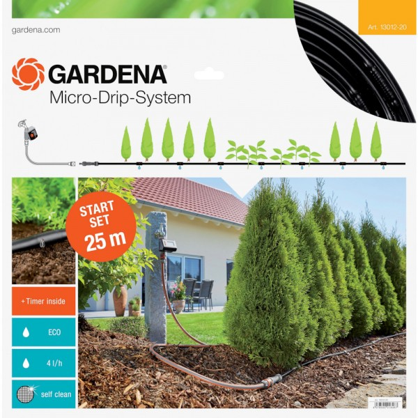 Gardena MDS Start-Set mit Automatik Pflanzreihen Micro-Drip-System 13012