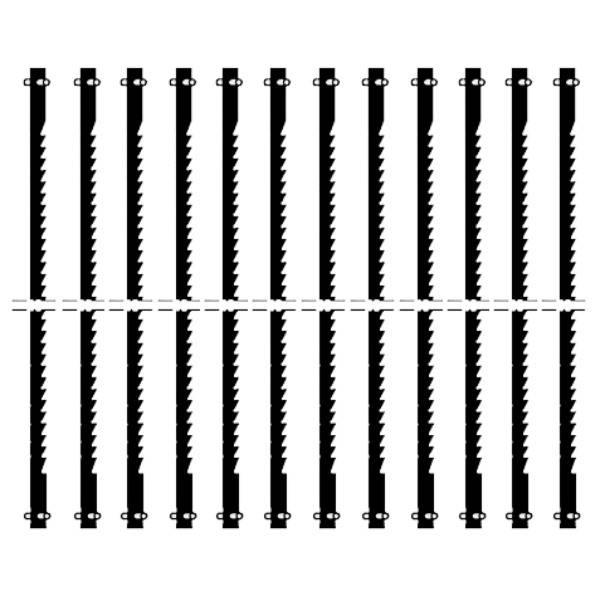 Proxxon Feinschnitt-Sägeblätter 25 Z fein verzahnt mit Querstift 127 mm für Dekupiersäge 12x