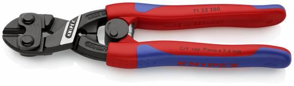 KNIPEX 71 32 200 CoBolt® Kompakt-Bolzenschneider 200 mm schwarz atramentiert mit schlanken Mehrkomp