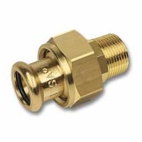 Pressfitting Siliziumbronze Typ 8333G Verschraubung AG Ø 12 - 54 mm SANHA PURAPRESS