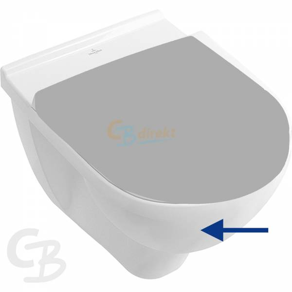 VB Tiefspül-WC spülrandlos O.novo 5660R0 360x560mm DirectFlush wandh Weiß Alpin