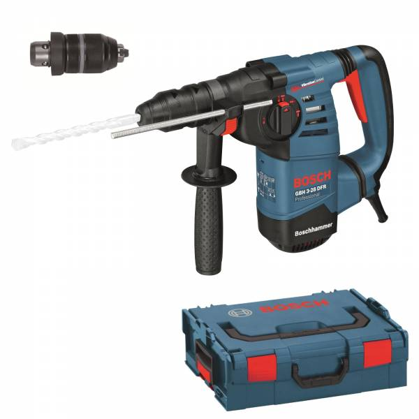 bosch hammer drill with sds plus gbh 3 28 dfr with l boxx 800 w power supply unit ebay