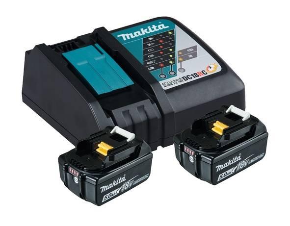 Makita Power Source Kit 18V 5,0 Ah Ladegerät DC 18 RC 2x BL1850B 197570-9