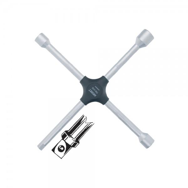 "Kreuzschlüssel f. PKW 17x19x22mmx1/2"" Hazet"
