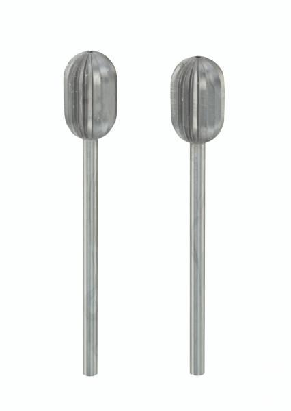 PROXXON Zylinderfräser 8 mm, 2 Stück 28726 Wolfram-Vanadiumstahl