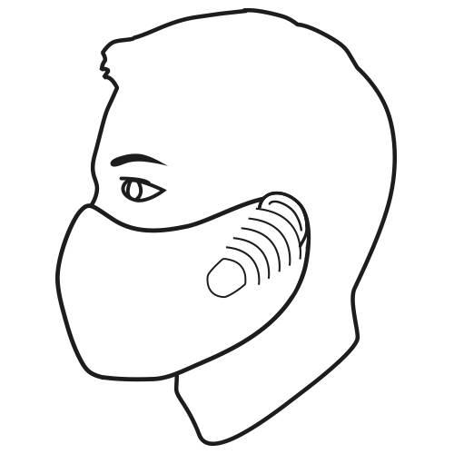Einweg Vlies Alltagsmaske Mund- und Nasenmaske Pack a 100 Stück von Atlas